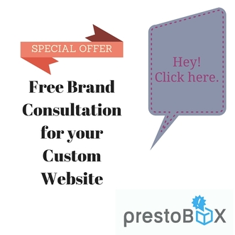 Special Offer for Free Consultation for Custom Websites at PrestoBox